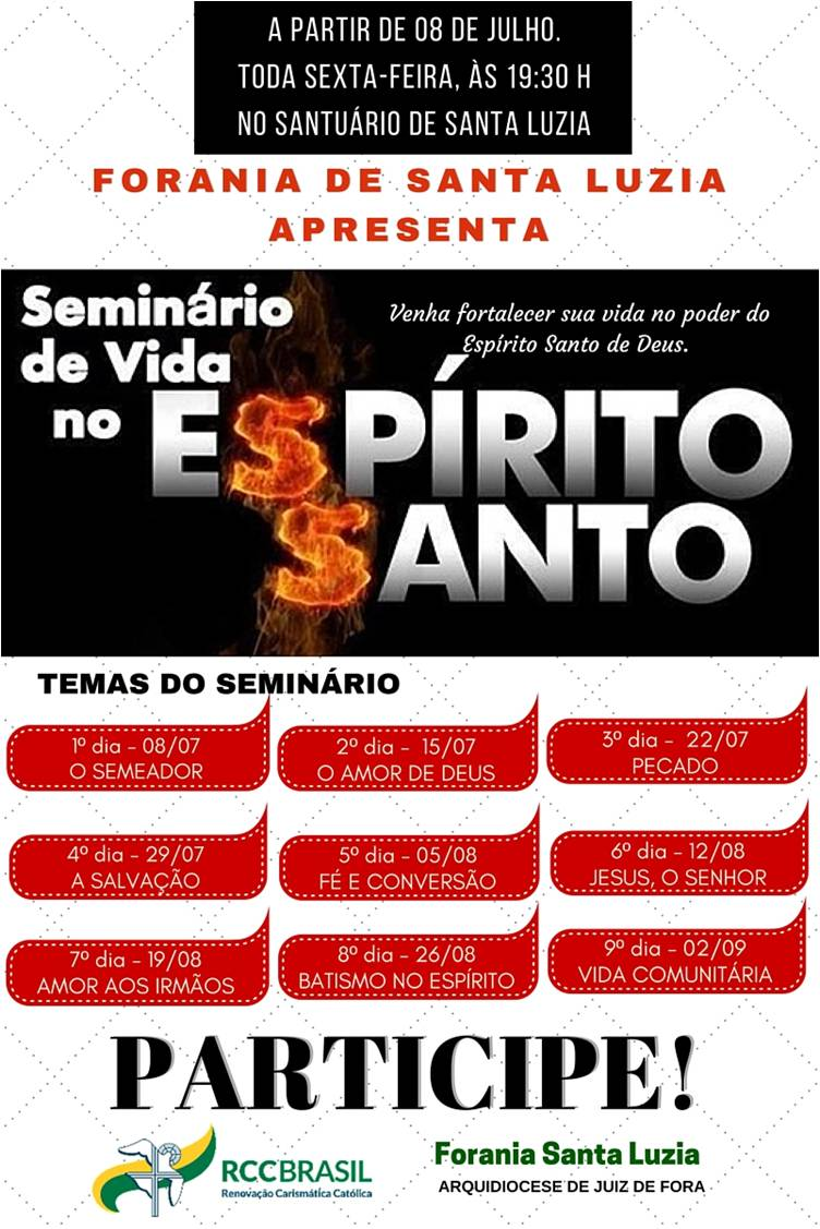 08 07 Seminário de Vida no Espírito Santo