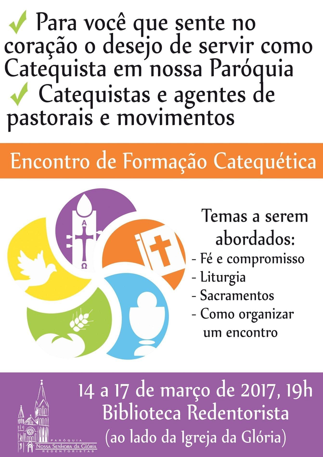 cartaz encontro formacao catequetica