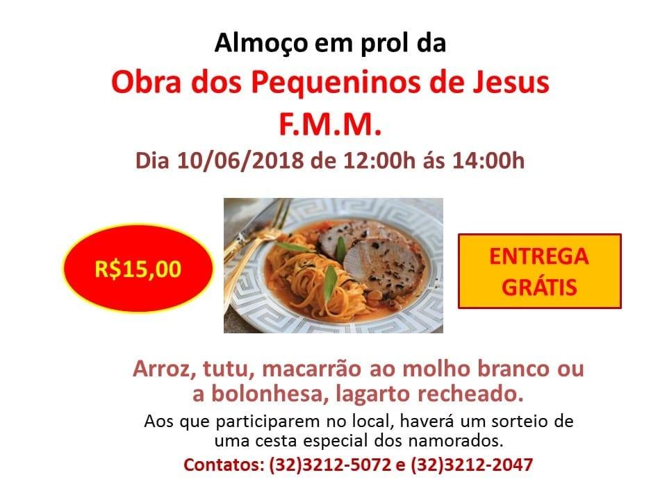 CARTAZ ALMOÇO JUNHO 18