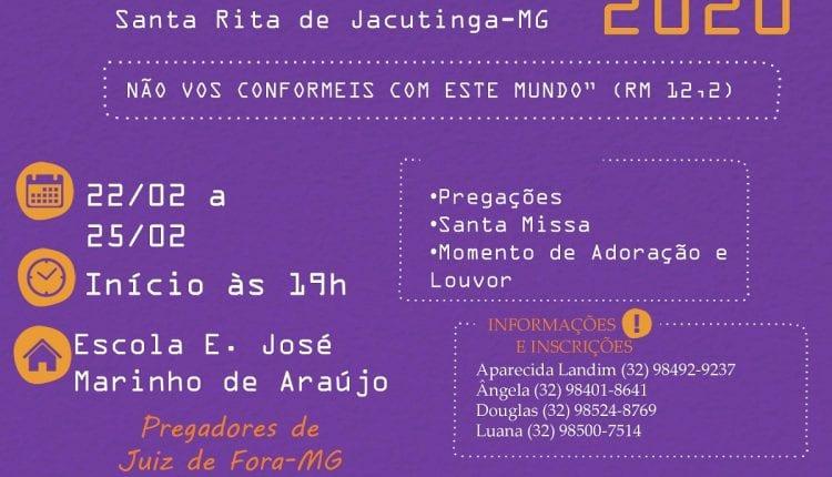 RETIRO DE CARNAVAL 2020 RCC SANTA RITA DE JACUTINGA